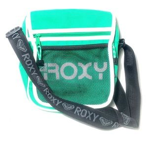 Vintage Roxy Green Crossbody Messenger Bag